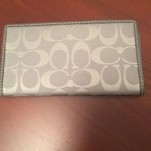 Coach check book wallet